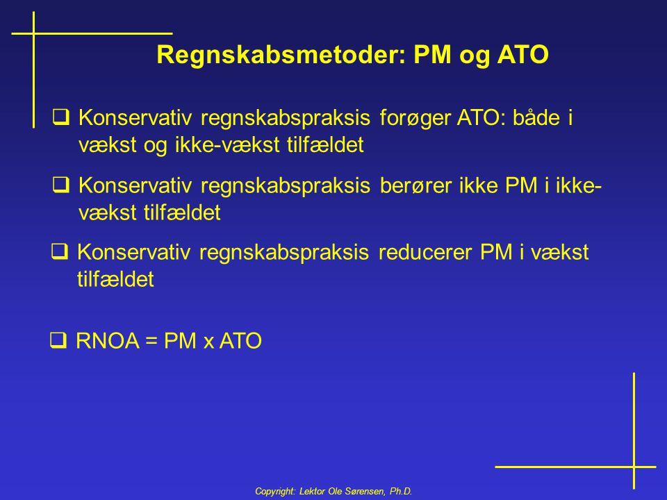 Regnskabsmetoder: PM og ATO