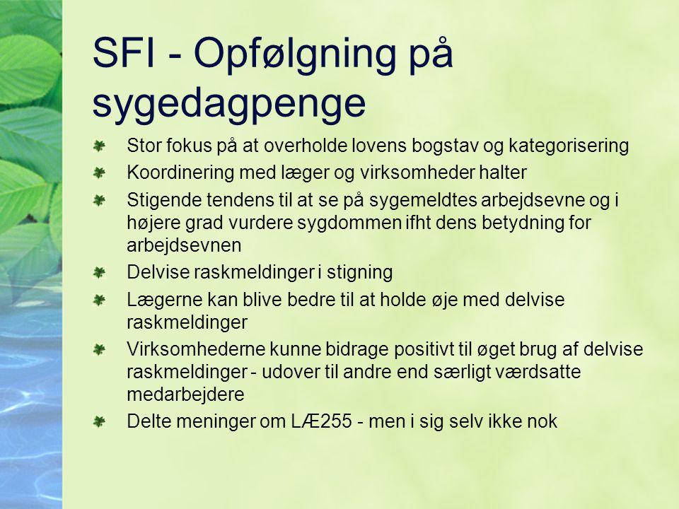SFI - Opfølgning på sygedagpenge