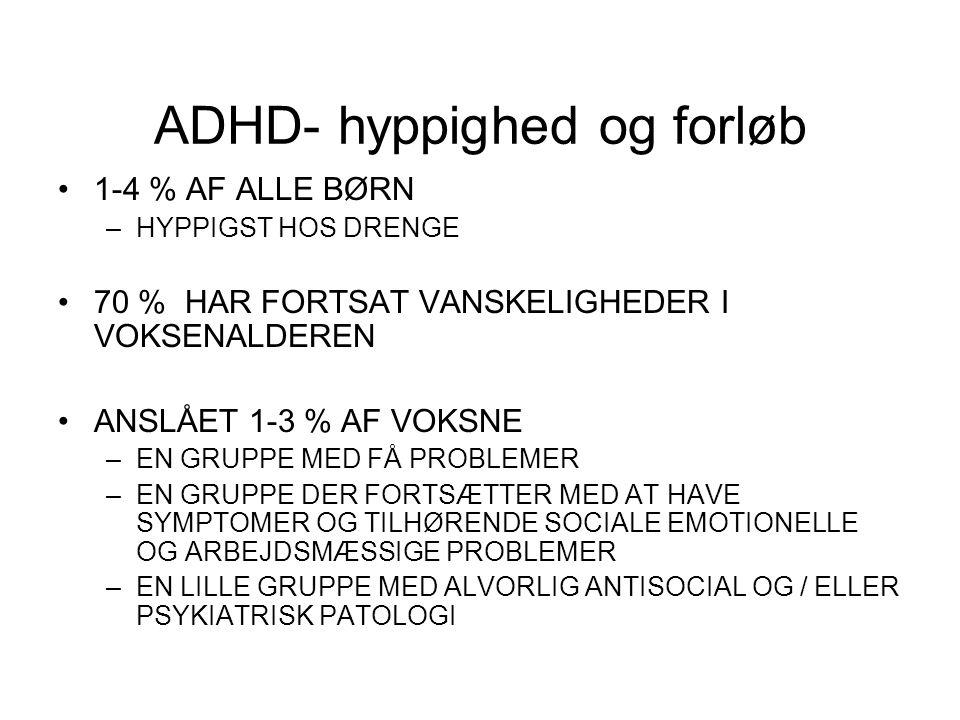 ADHD- hyppighed og forløb