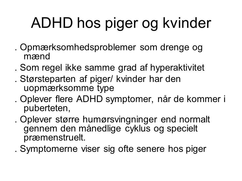 ADHD hos piger og kvinder