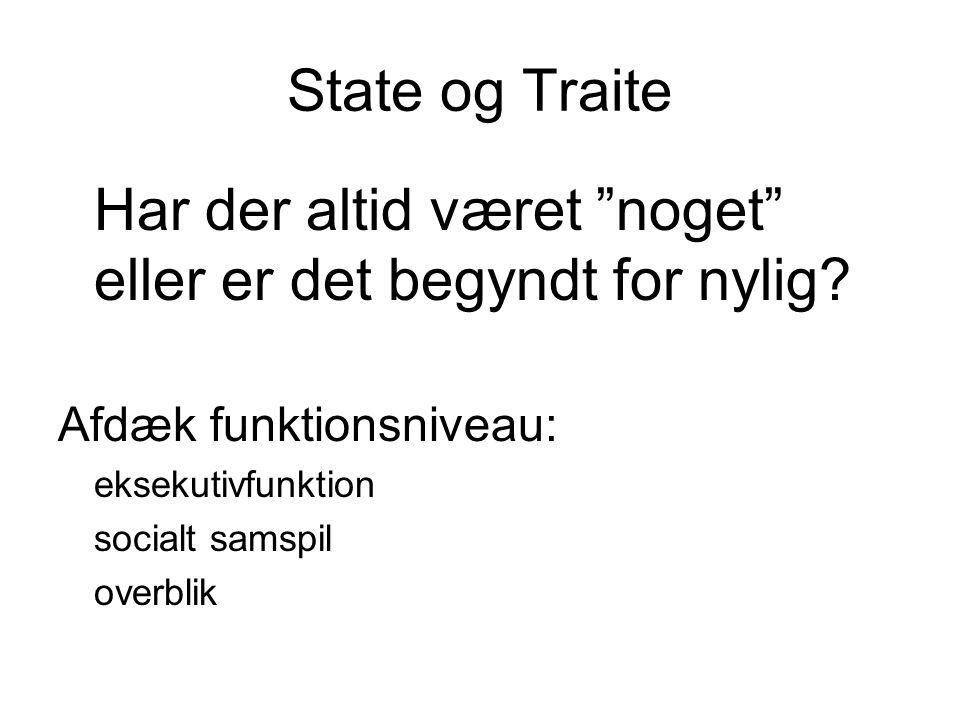 State og Traite Afdæk funktionsniveau: