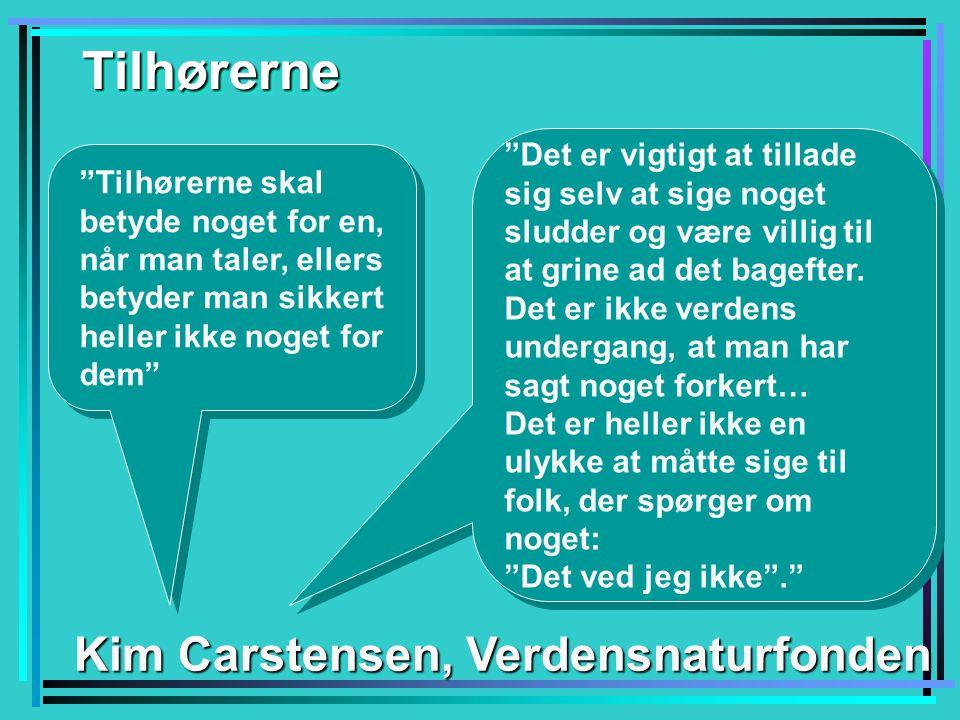 Tilhørerne Kim Carstensen, Verdensnaturfonden
