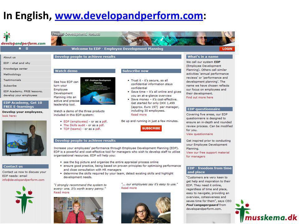 In English, www.developandperform.com: