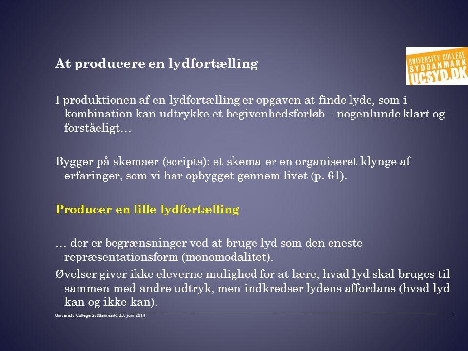 At producere en lydfortælling