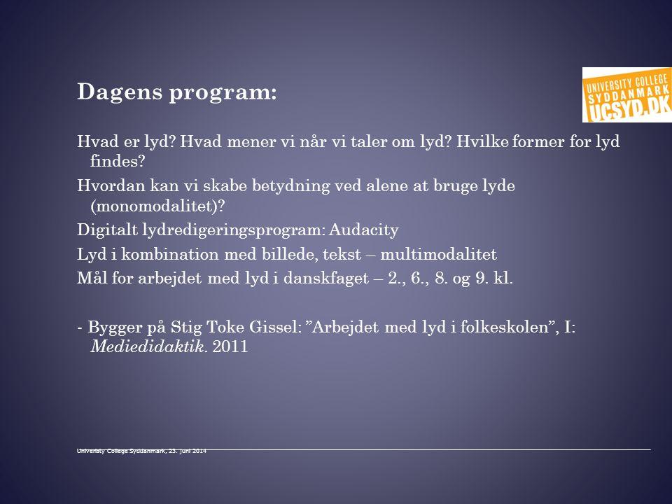 Dagens program: