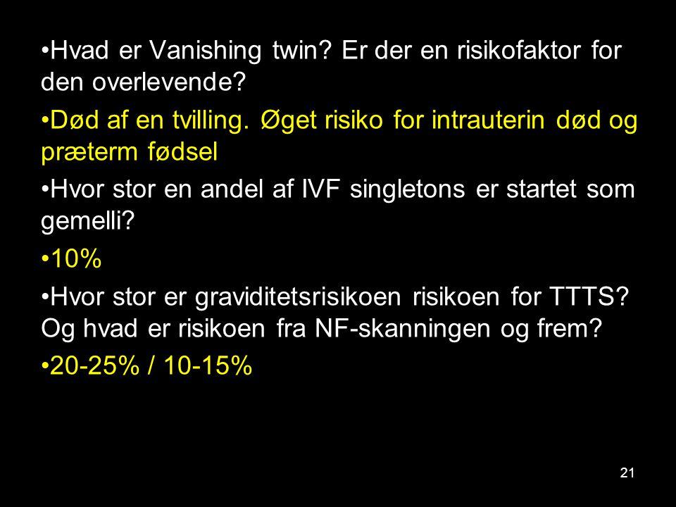 Hvad er Vanishing twin Er der en risikofaktor for den overlevende