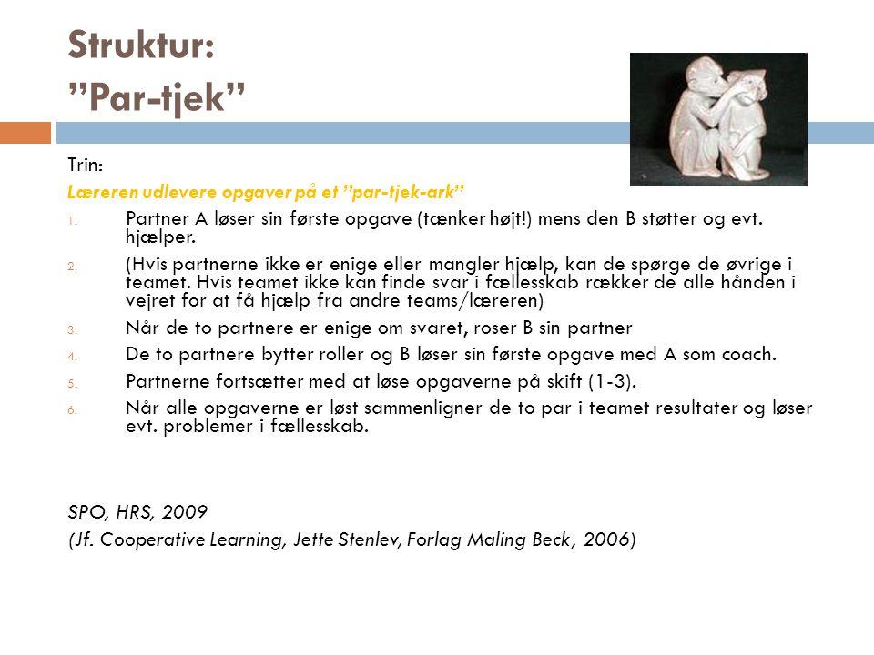 Struktur: Par-tjek Trin: