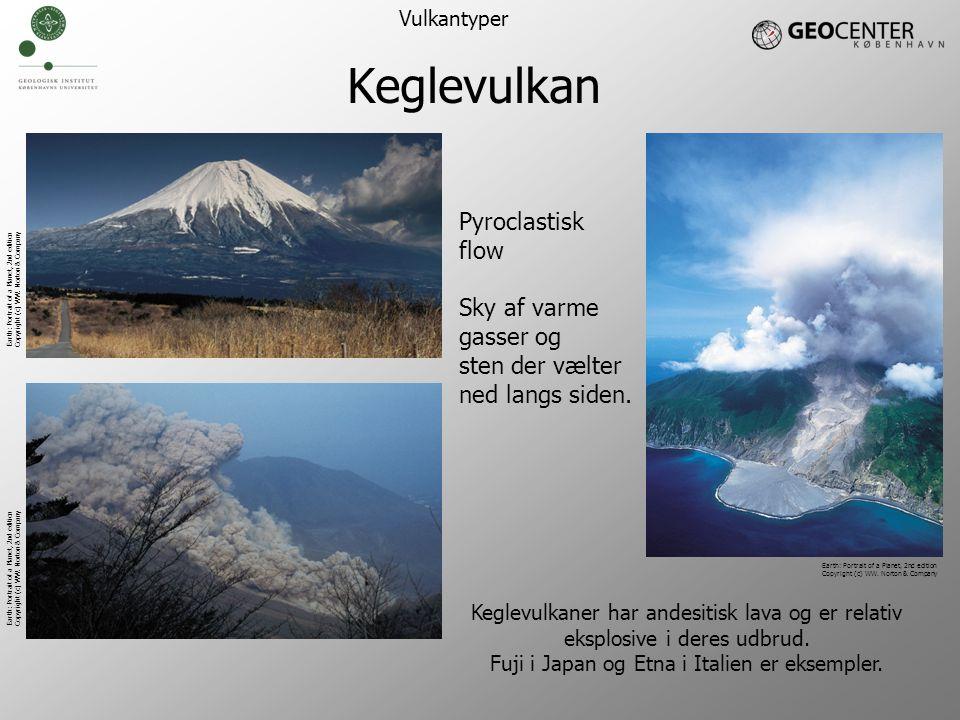 Keglevulkan Pyroclastisk flow Sky af varme gasser og sten der vælter