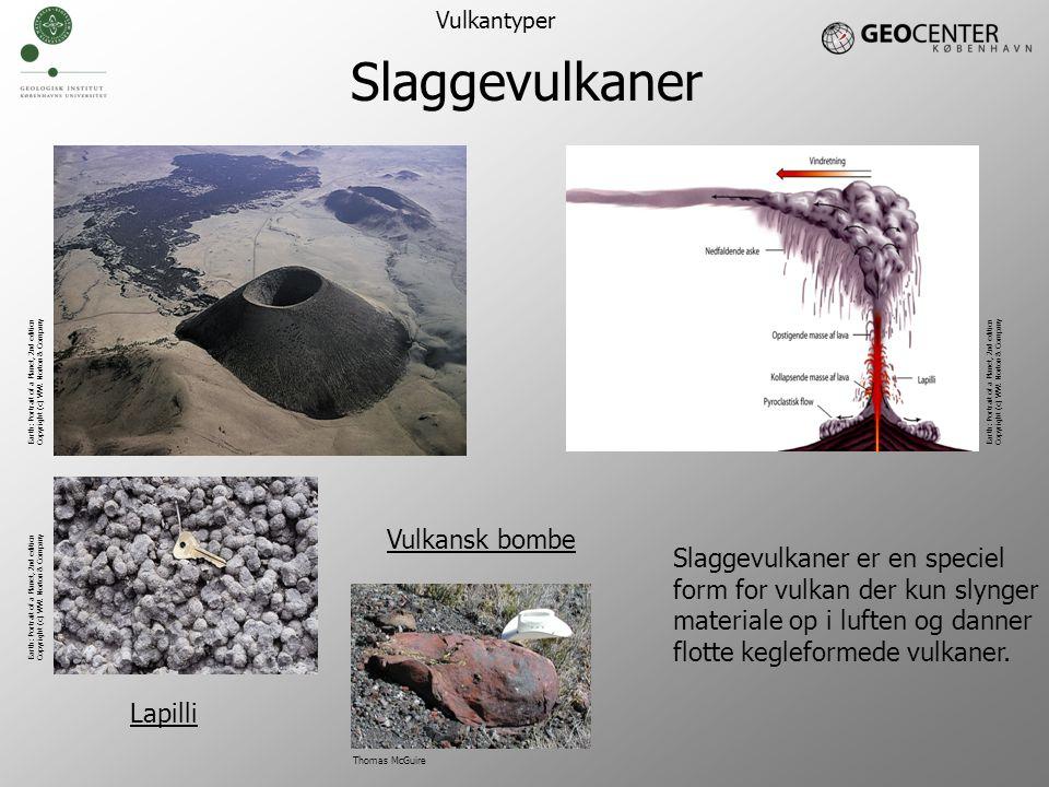 Slaggevulkaner Vulkansk bombe Slaggevulkaner er en speciel