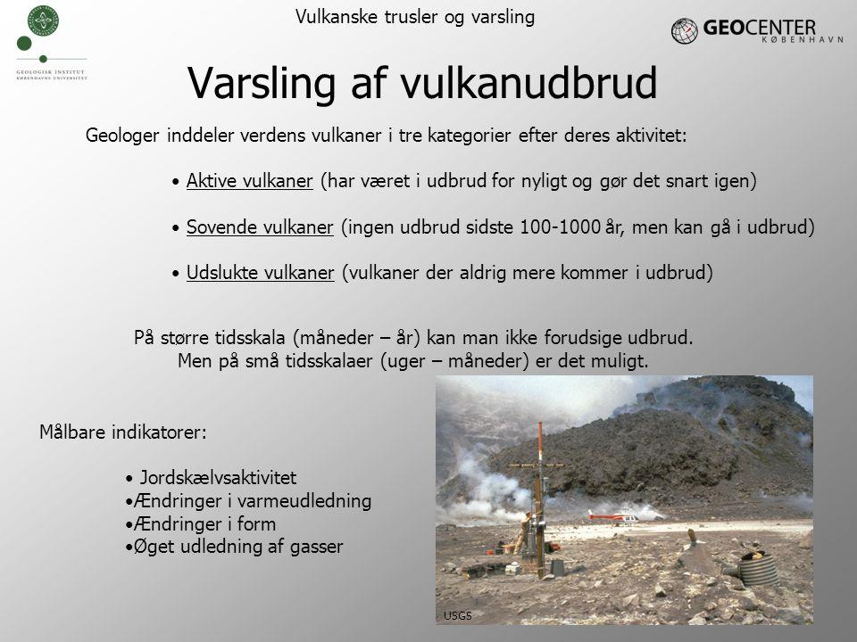 Varsling af vulkanudbrud