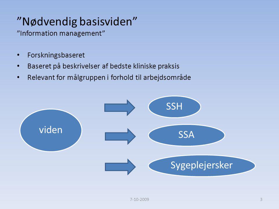 Nødvendig basisviden Information management
