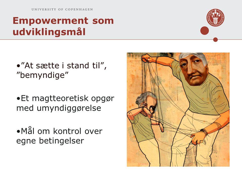 Empowerment som udviklingsmål
