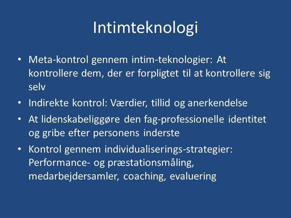 Intimteknologi Meta-kontrol gennem intim-teknologier: At kontrollere dem, der er forpligtet til at kontrollere sig selv.