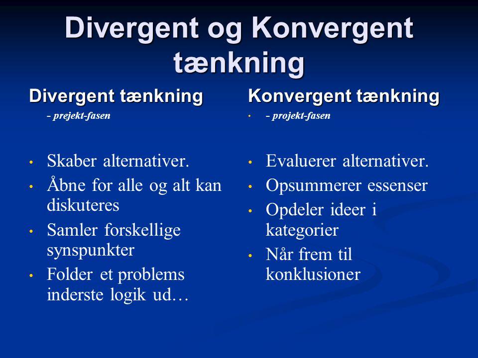 Divergent og Konvergent tænkning