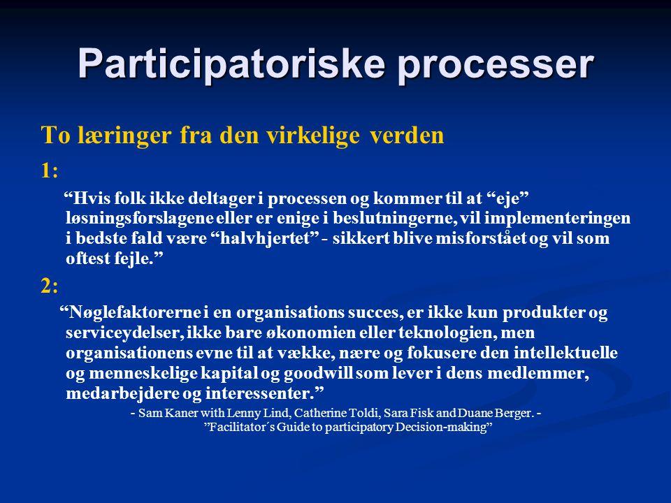 Participatoriske processer
