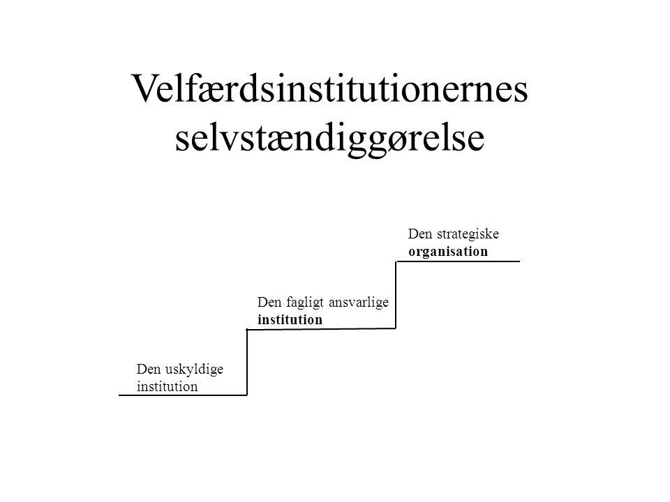 Velfærdsinstitutionernes selvstændiggørelse