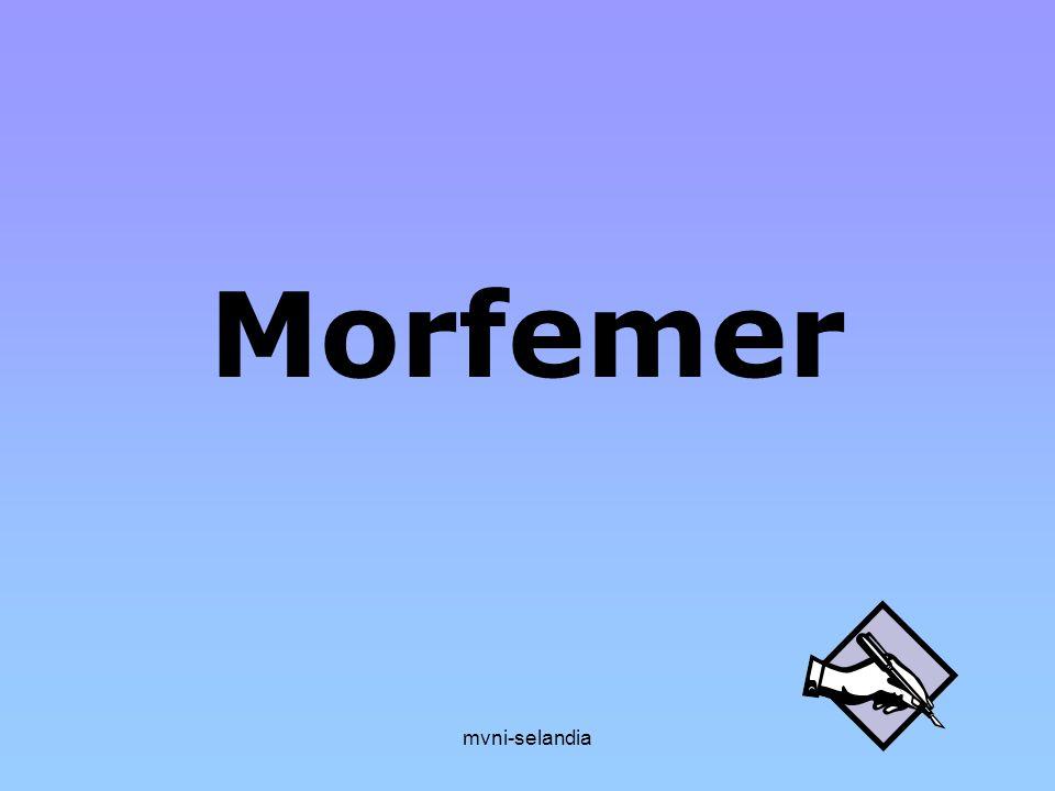 Morfemer mvni-selandia