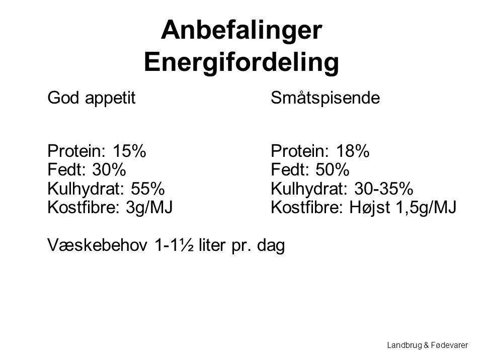 Anbefalinger Energifordeling