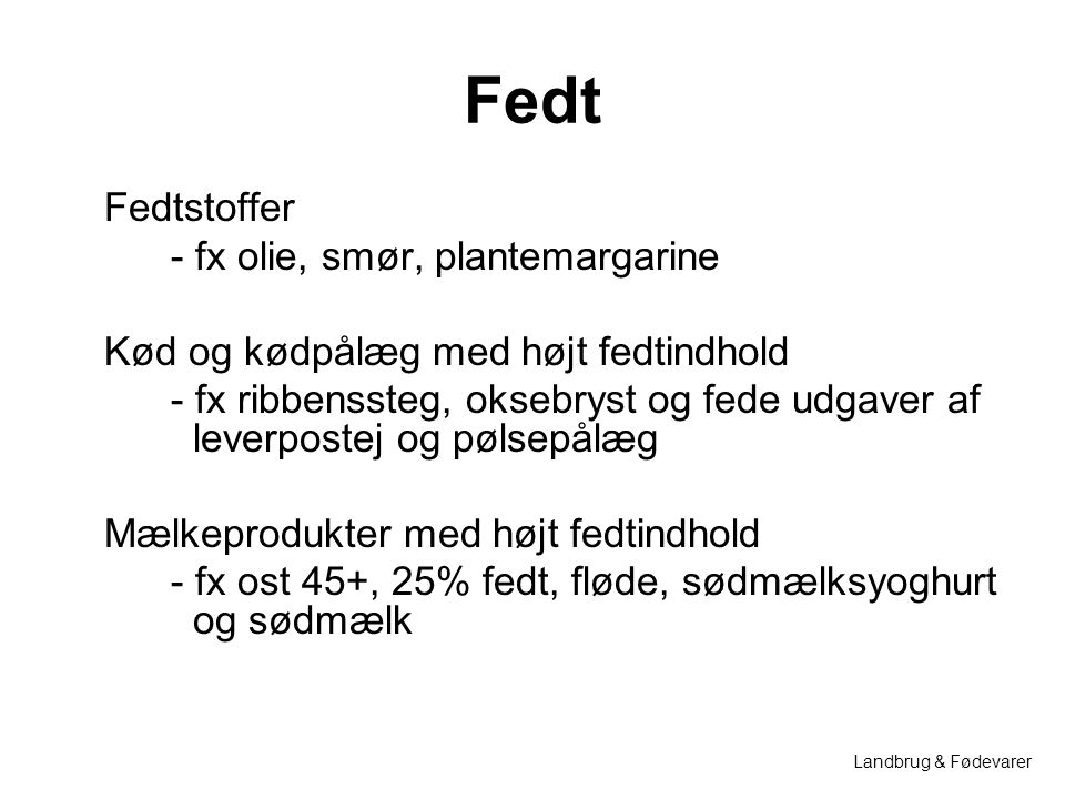 Fedt