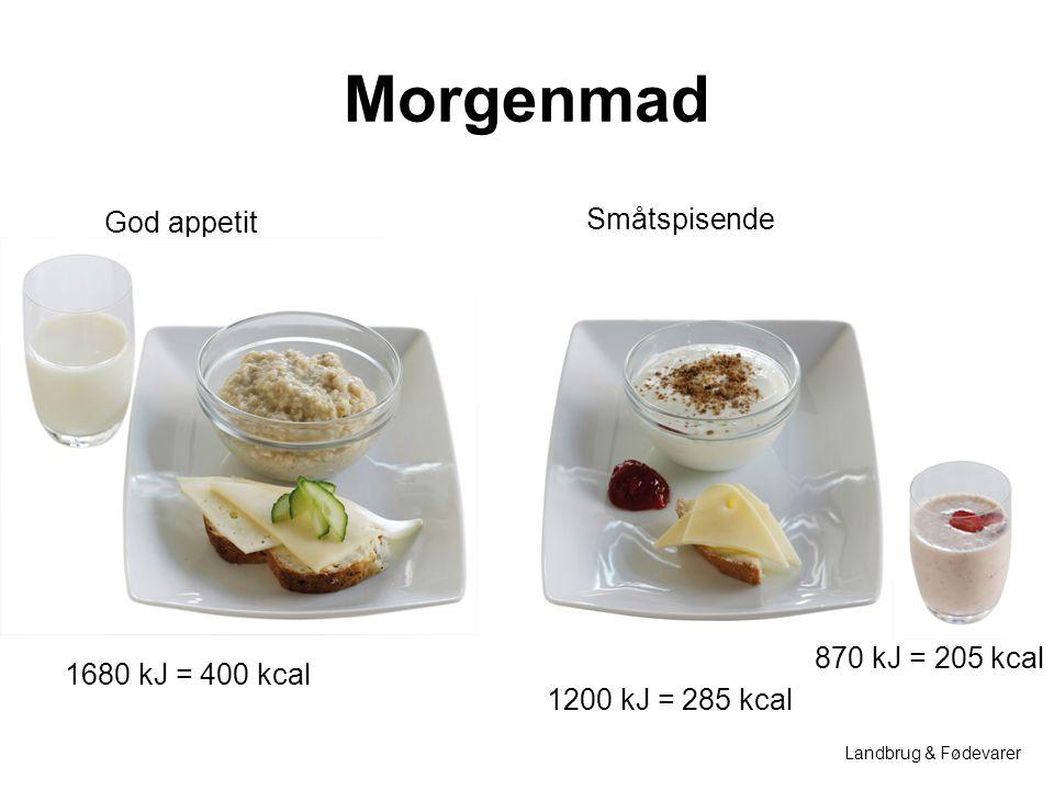 Morgenmad God appetit Småtspisende 870 kJ = 205 kcal
