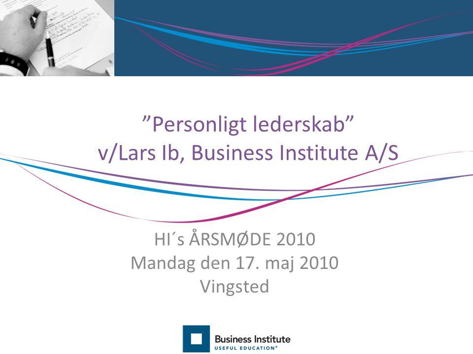 Personligt lederskab v/Lars Ib, Business Institute A/S