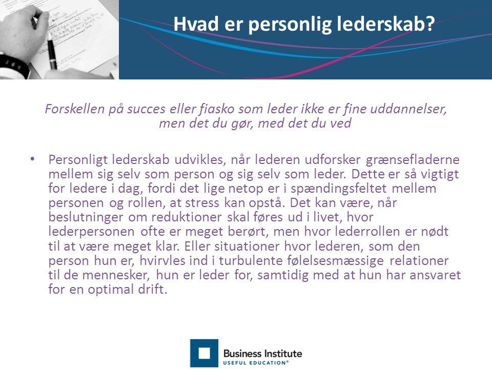 Hvad er personlig lederskab