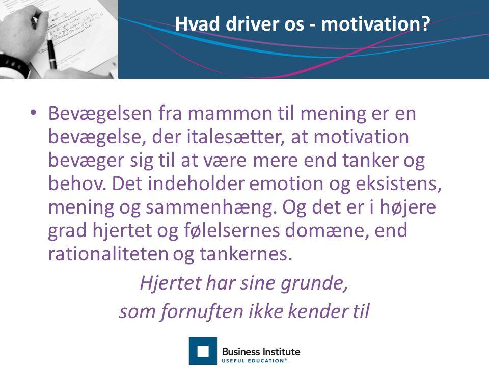 Hvad driver os - motivation