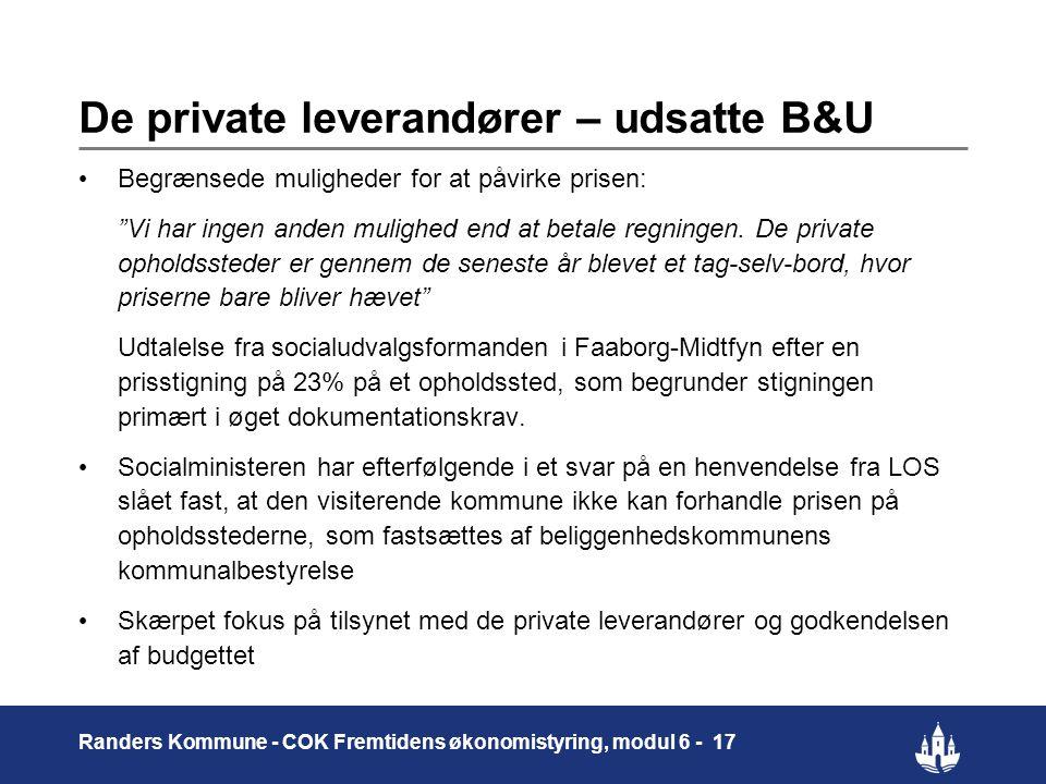 De private leverandører – udsatte B&U