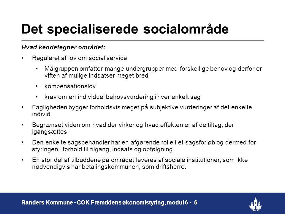 Det specialiserede socialområde