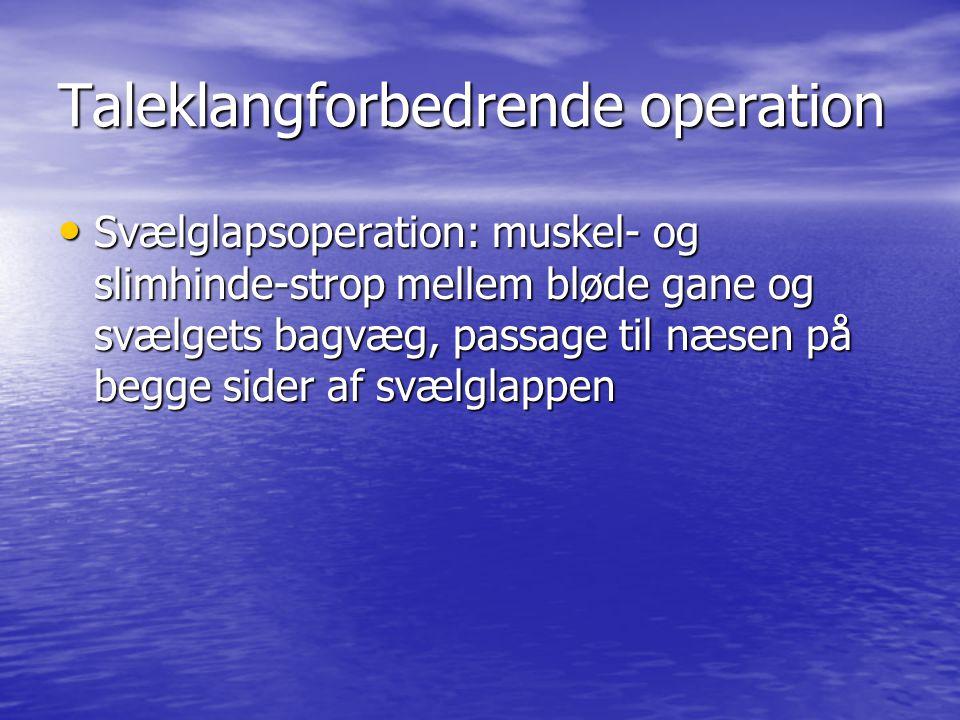 Taleklangforbedrende operation