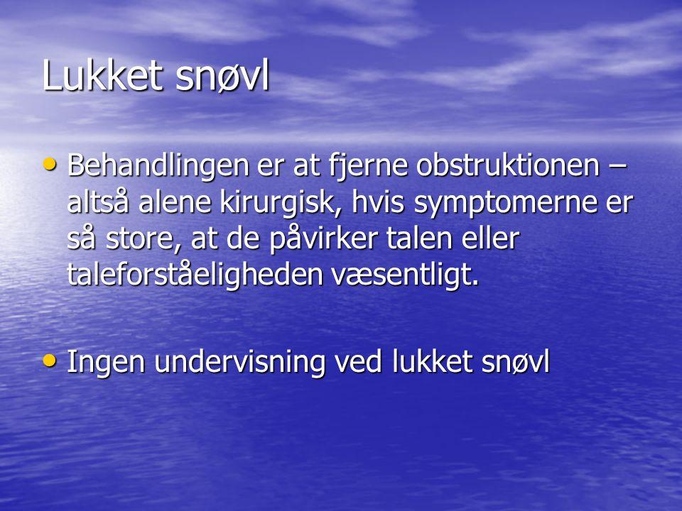 Lukket snøvl