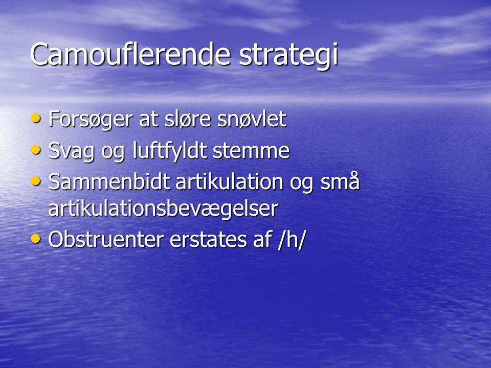 Camouflerende strategi