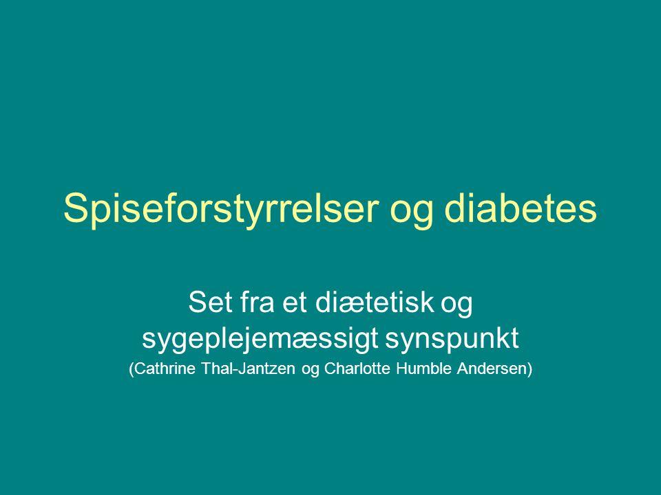 Spiseforstyrrelser og diabetes