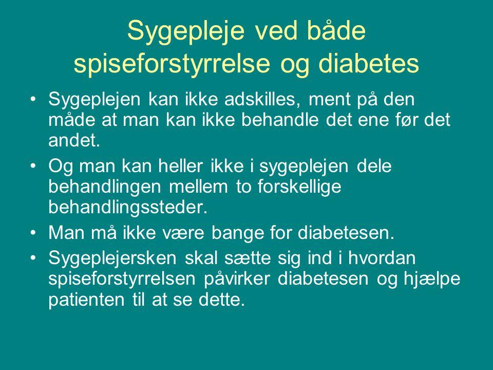 Sygepleje ved både spiseforstyrrelse og diabetes
