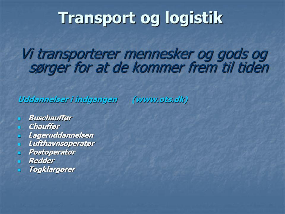Transport og logistik