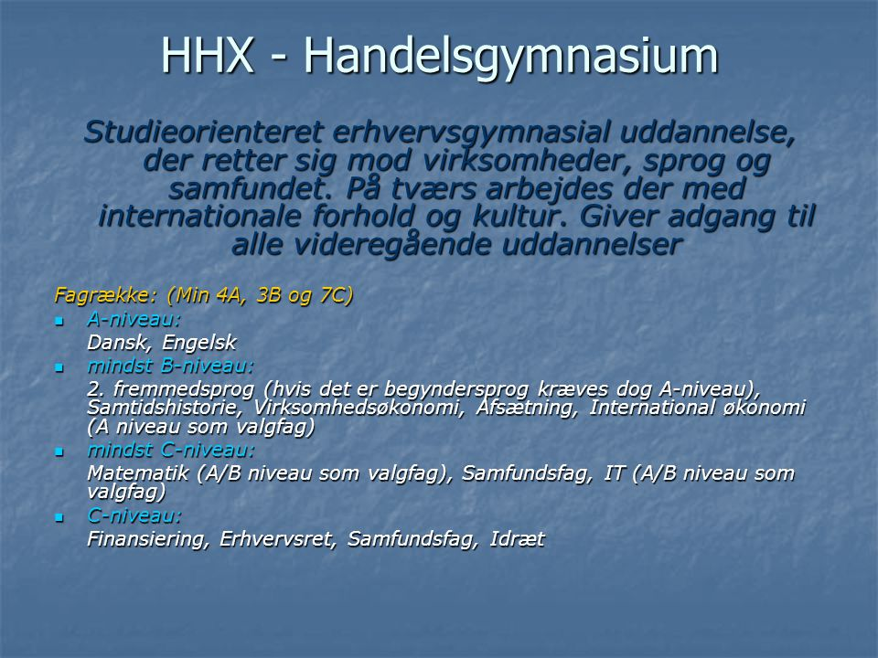 HHX - Handelsgymnasium