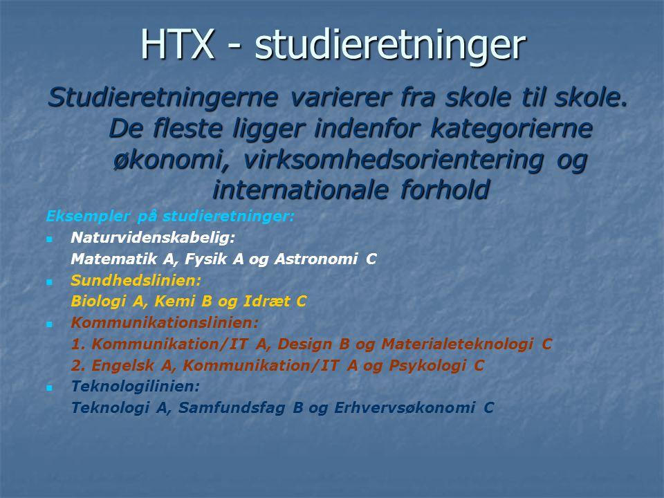 HTX - studieretninger