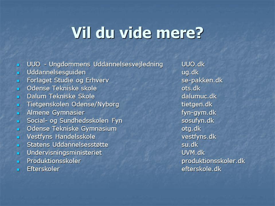 Vil du vide mere UUO - Ungdommens Uddannelsesvejledning UUO.dk