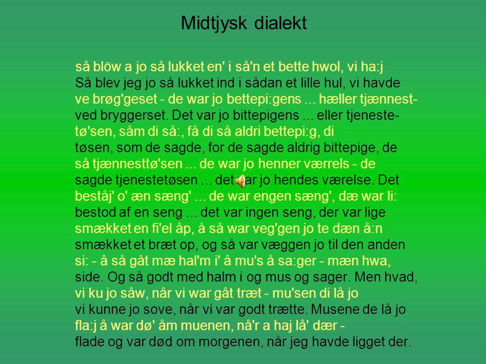 Midtjysk dialekt