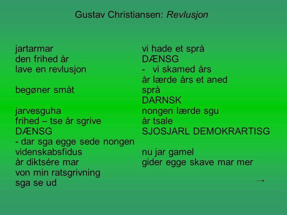 Gustav Christiansen: Revlusjon