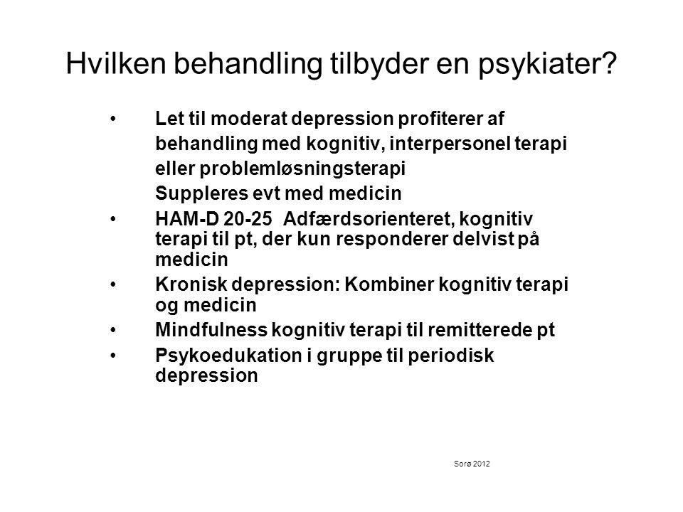 Hvilken behandling tilbyder en psykiater