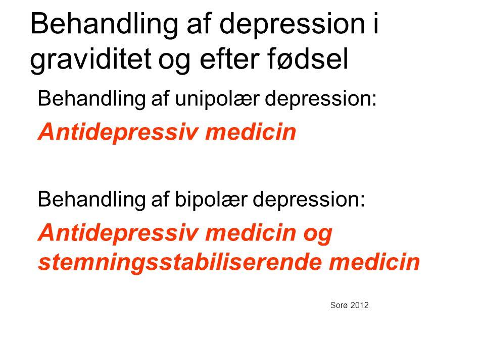 Behandling af depression i graviditet og efter fødsel