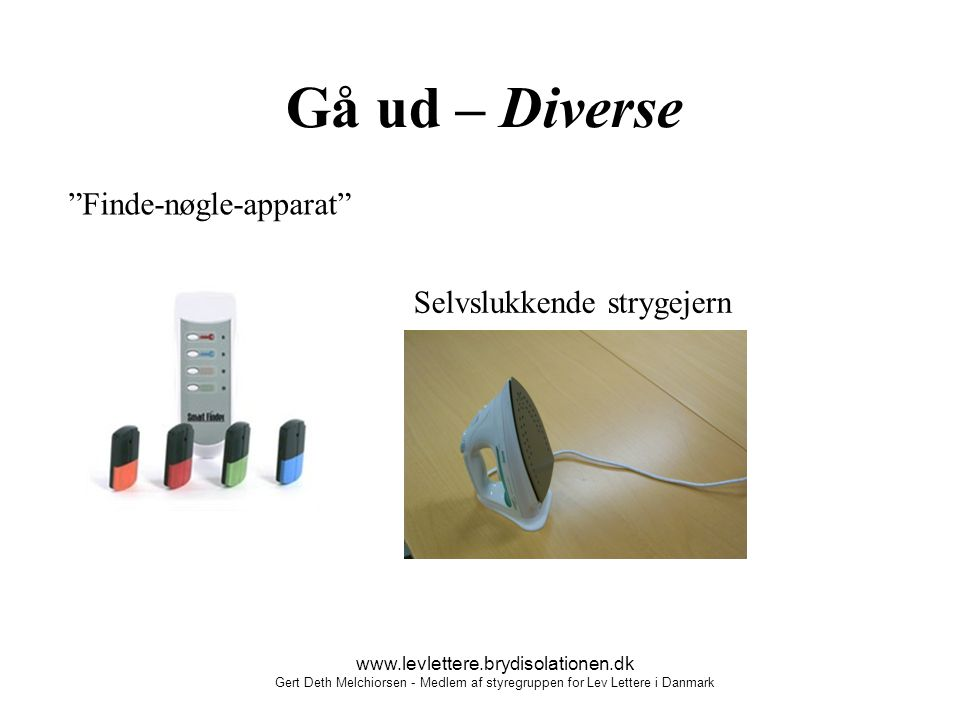 Gå ud – Diverse Finde-nøgle-apparat Selvslukkende strygejern