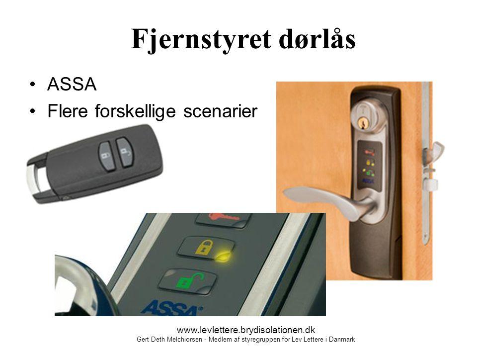 Fjernstyret dørlås ASSA Flere forskellige scenarier