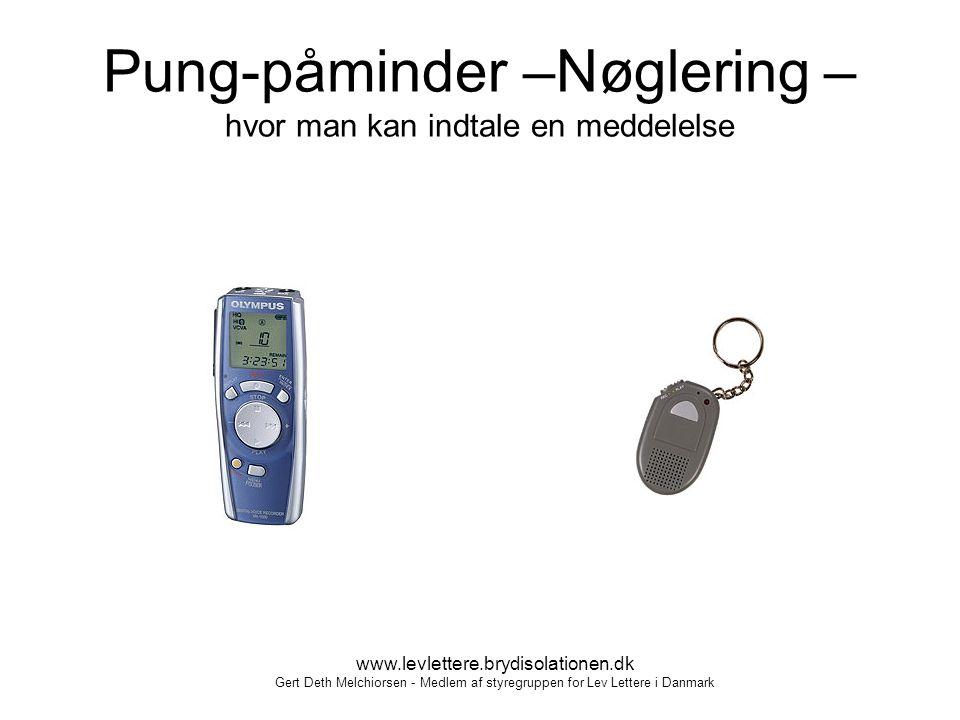Pung-påminder –Nøglering – hvor man kan indtale en meddelelse