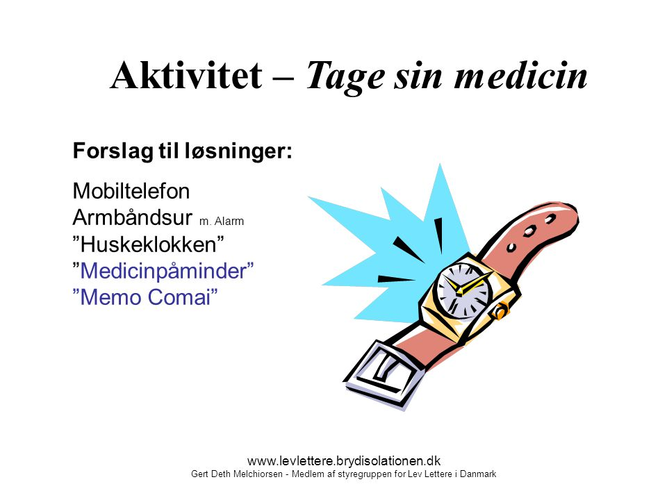 Aktivitet – Tage sin medicin