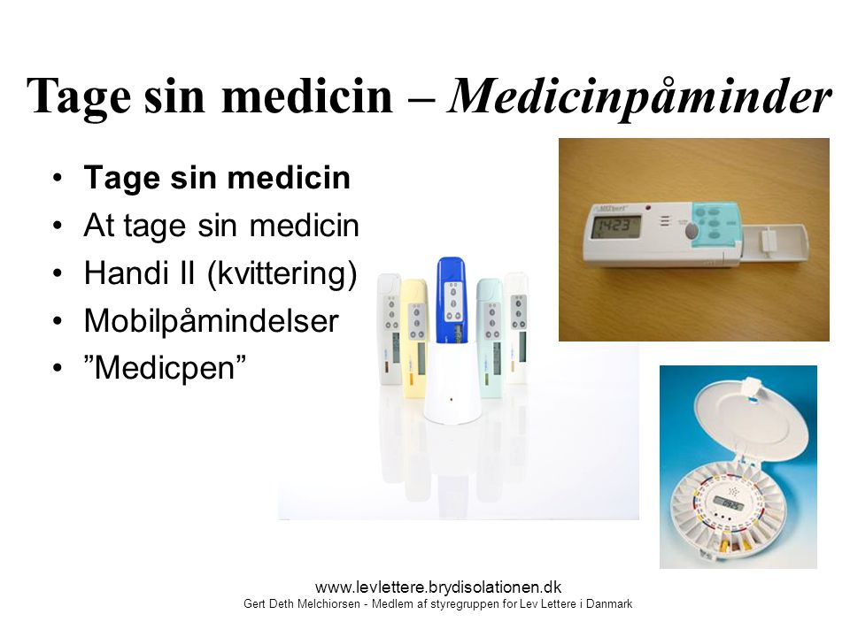 Tage sin medicin – Medicinpåminder