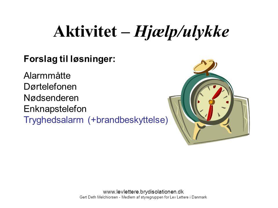 Aktivitet – Hjælp/ulykke