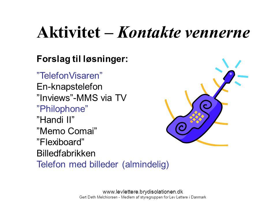 Aktivitet – Kontakte vennerne