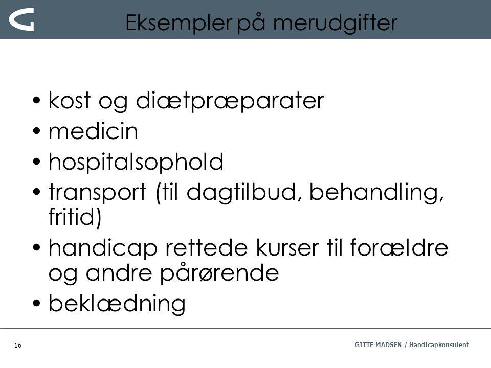 Eksempler på merudgifter
